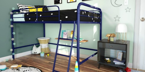 Small Kids Bedroom? This Highly Rated Metal Loft Bed is Only $89.99 Shipped
