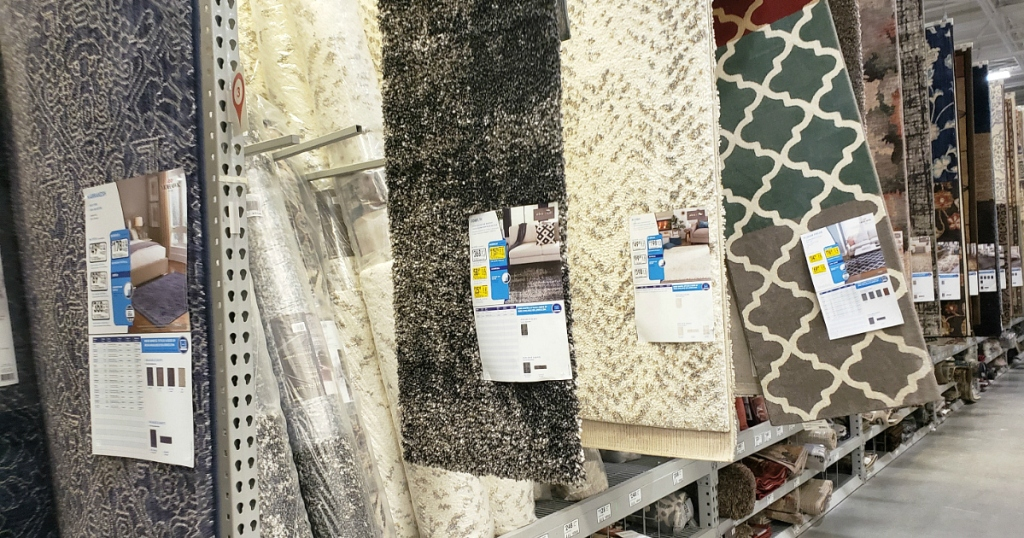 clearance area rugs at Lowe's