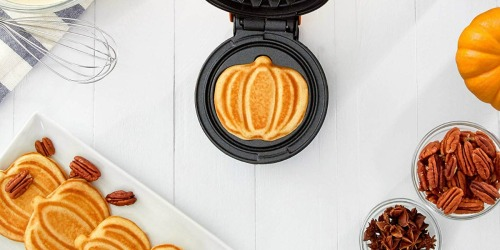 Make Pumpkin-Shaped Waffles with this Cute Kitchen Gadget