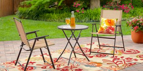 Got a Small Patio? Pay Under $40 Delivered for this Folding Bistro Set