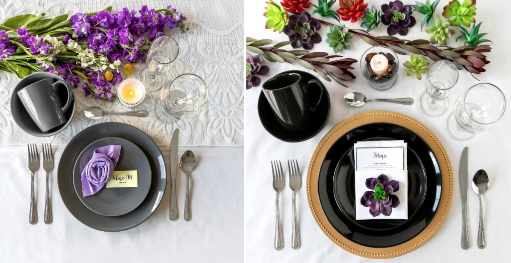 gray and black dinner table ideas