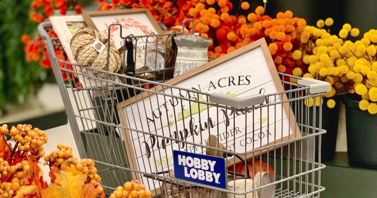 Fall Mantels Using All Hobby Lobby