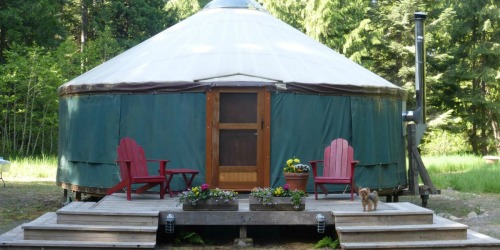 You Can Pop Up a Yurt in Your Own Backyard – And It Will Give Guests a Place of Their Own