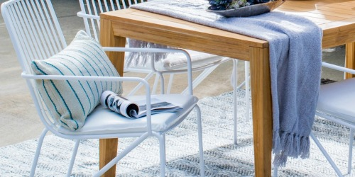 Walmart's Modern Outdoor Dining Chairs are Stackable AND 72% Off