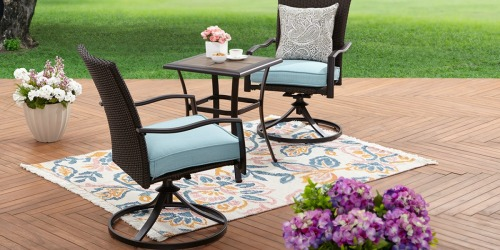 This 3-Piece Wicker Bistro Set is Almost 60% Off AND Includes Free Delivery