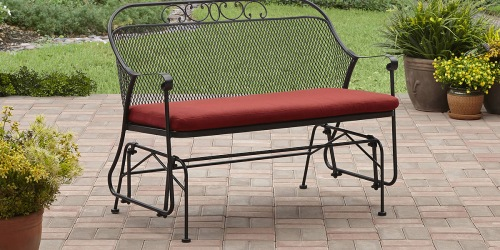 Over 60% Off This Outdoor Glider w/ Stain-Resistant Cushion (+ Free Delivery!)