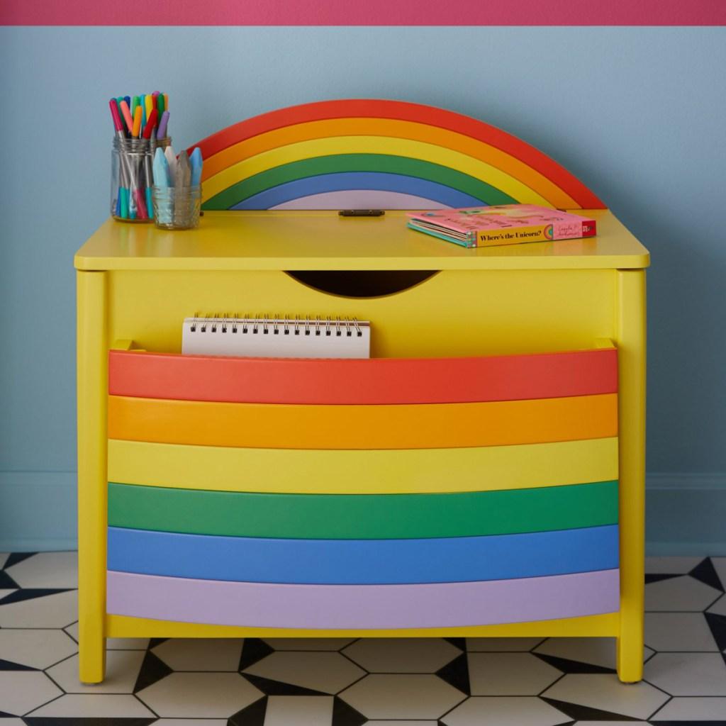 rainbow book shelf