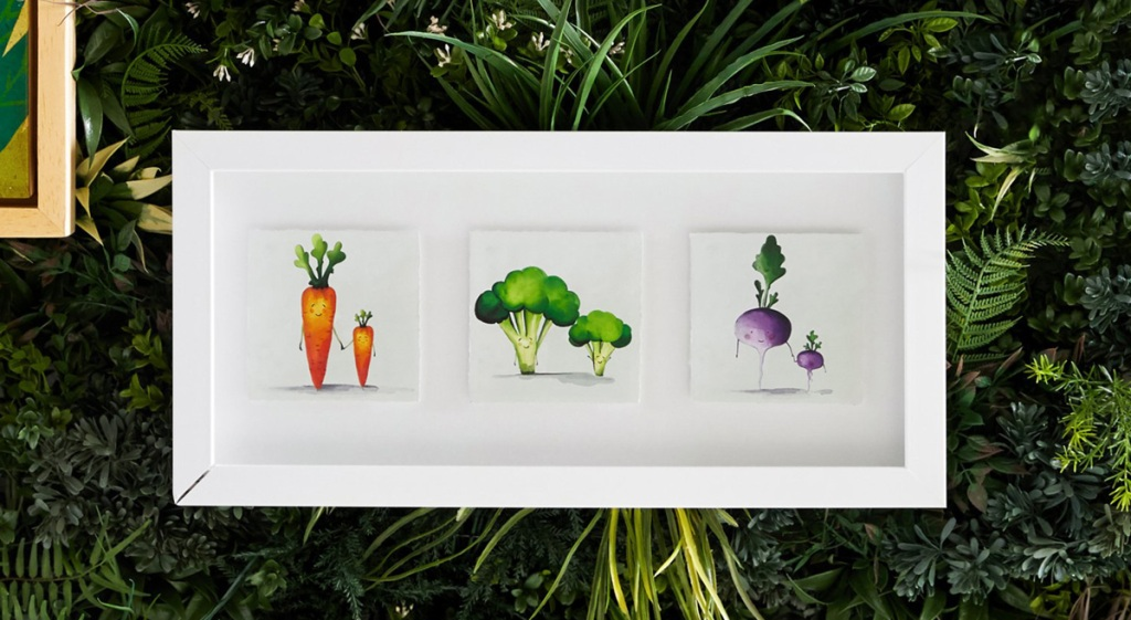 veggie friends wall art